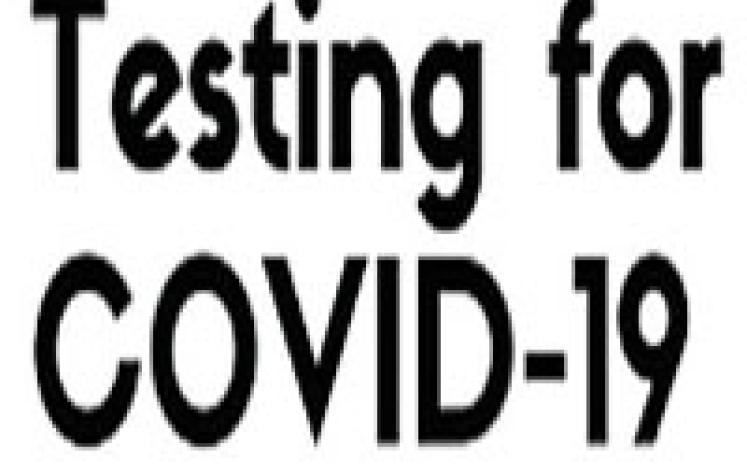 Testing for COVID-19 graphic