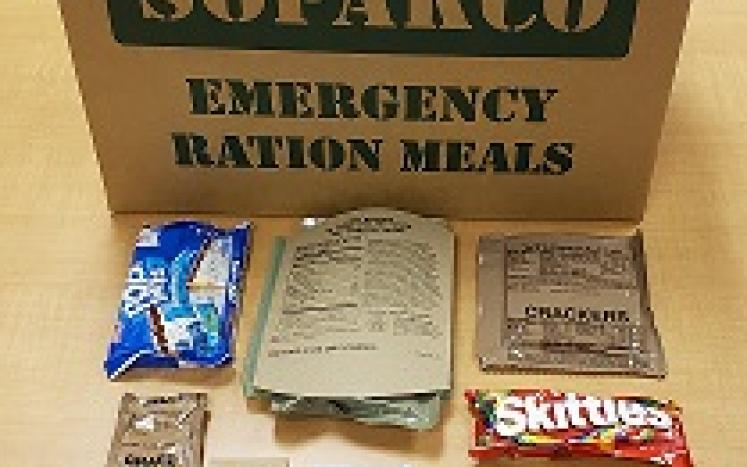 photo of MRE contents